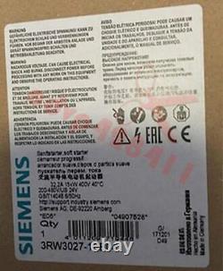 1PCS New Siemens soft starter 3RW3027-1BB04