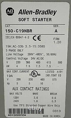 Allen Bradley Soft Starter 150-C19NBR