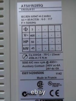 Altistart 01 Schneider Electric Soft Starter ATS01N285Q 45 kW, 85 A, 50HP