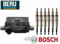 BMW E92 E93 325d, 330d, 335d Glow Plug Control Relay & Glow Plugs BERU BOSCH