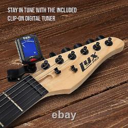 Electric Guitar Starter Kit Digital Tuner Beginners Kids Cable Soft Case Gig Bag