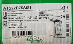 New ATS22D75S6U Schneider Electric Soft Start, 208-600VAC, 75A, 3 Phase 50 HP