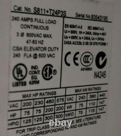 New Eaton 200 HP Reduced Voltage Soft Starter 600 Vac 3ø 240 Fla S811+t24p3s