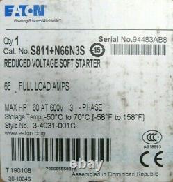 New Eaton S811+n66n3s Soft Starter Reduce Voltage S811n66n3s