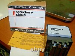 New Sprecher + Schuh 115 Vac Soft Starter Pb 3 Phase 1.5 HP 11 Amp Pbs-011-120v