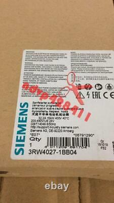 ONE New Siemens soft starter 3RW4027-1BB04