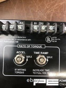 Power Electronics E6046-1B Single Speed Soft Start Reduced Torque Control L365