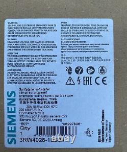 Siemens gently Starter Soft Starter 3RW4028-1BB04 Sirius 18,5 kWith400 V NEW