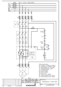 Softstarter PSR 11kW (für normalen Anlauf), Hauptschalter, Not-A, Nr. 0098.4285