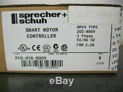 Sprecher + Schuh PCS-016-600V Smart Motor Controller Soft Starter 200-600V 3 Ph