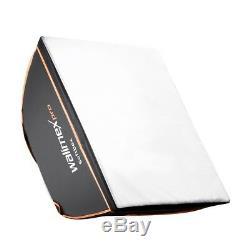 Walimex pro Newcomer Studioset Starter 2x 300 Ws Blitzkopf, Stative, Softboxen
