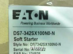 187228 Nouveau Dans La Boîte, Eaton Ds7-342sx100n0-n Soft Starter 100a, 3p, 200-480vac 75hp