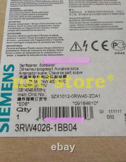 1pc Pour Tout Nouveau 3rw3026-1bb04 Siemens 11kw Soft Starter 3rw30261bb04