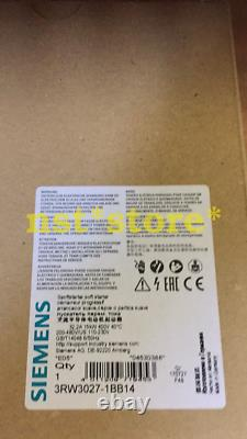 1pcs Pour Tout Nouveau Siemens Soft Starter 3rw3028-1bb04 3rw30281bb04
