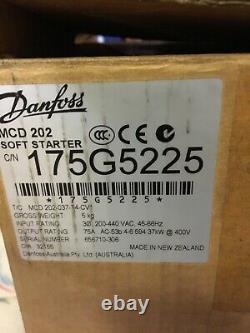 Danfoss MCD 202 Mcd202 Soft Starter 175g5225 MCD 202-037-t4-cv1 75a 37