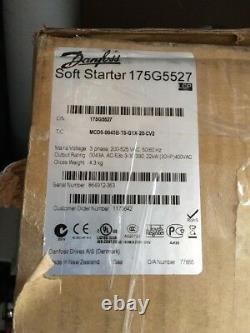 Danfoss Vtl Soft Starter Cat. Mcd5-0043b-t5-g1x-20-cv2 30hp 400vac Nouveau