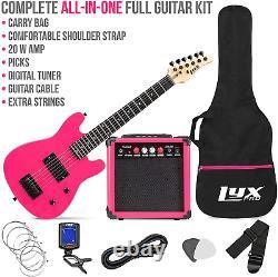 Electric Guitar Starter Kit Digital Tuner Débutants Kids Cable Soft Case Gig Bag