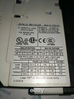 New Cutler Marteau S801n37n3s Soft Starter Max HP 60 At-600v