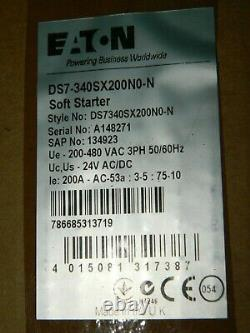 New Eaton Ds7-340sx200n Ds7 Soft Starter 200 A 200-480 Vac 200a 150hp Seled Box