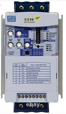 Nouveau, Soft Starter, Weg, Ssw070085t5sz, 220-575 Vac Rated, 3 Phase, 85a Rated