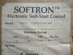 Nouveau Softron S3210 Electronic Soft-start Control 10-hp 230v 3-phase 10hp Nib