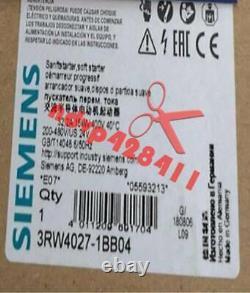 One Nouveau Démarreur Souple Siemens 3rw4027-1bb04