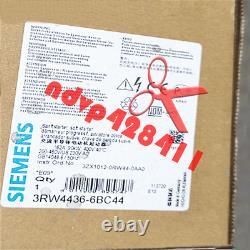 One Nouveau Siemens 3rw4436-6bc44 Soft Starter 3rw44366bc44