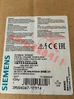 One Nouveau Siemens Soft Starter 3rw4047-1bb14 3rw40471bb14