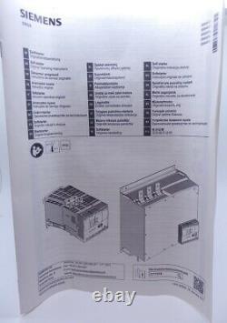 Siemens 3no+1nc 100a 230vac 30/30/75hp Démarreur Souple 3rw4434-6bc44