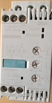 Siemens Sanftstarter Soft-démarreur, 5,5kw, 200-460v / Ac, 24v / Ac / Dc, 3rw3024-1ab04, Ovp