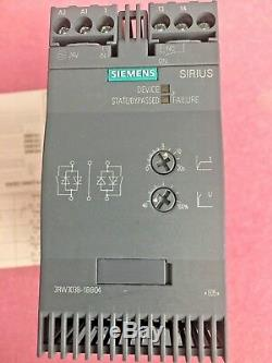 Siemens Sirius 3rw3038-1bb04 Soft Starter, Demarreur 72a, 37kw, 40hp