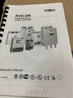 Solcon Rvs-dn 170 480-115-115-9-u-3m-8-s Numérique À Tension Réduite Soft Starter