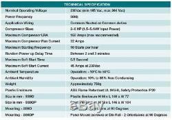 Véritable Actronair A / C 2035-010k Compresseur Démarreur Progressif Ss9r8 Ss1p 240v 45a 1ph