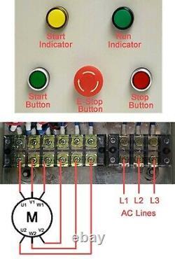 Wye Delta Soft Starter Pour Une Tension Réduite Jusqu'à 15 HP Ac Motor Avec Boutons On/off